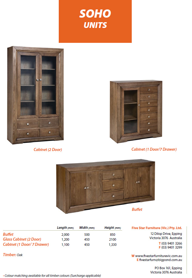 Five Star Furniture Vic Pty Ltd Products Details Page